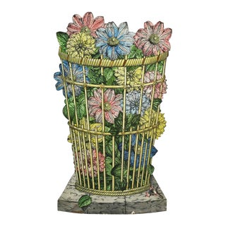 Fornasetti Tole Umbrella Stand For Sale