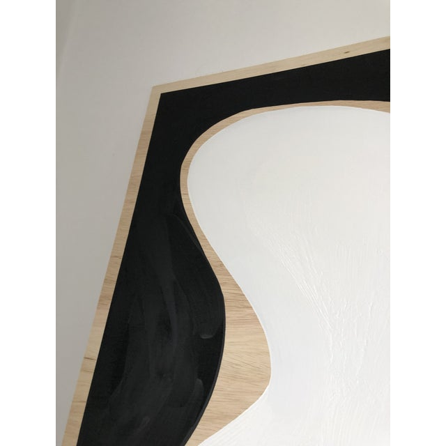 2010s Exposed Birch Wood Abstract Black and White Diptych For Sale - Image 5 of 10