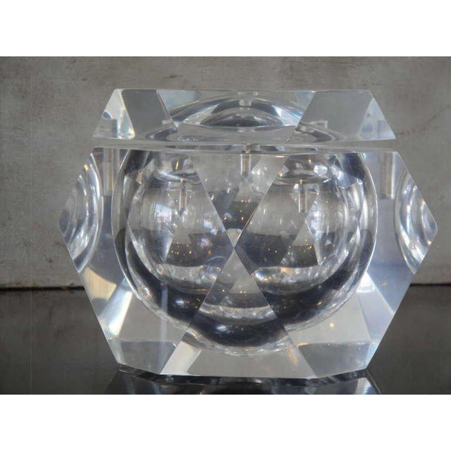 Carole Stupell Lucite Ice Bucket / Candy Dish - Image 2 of 6