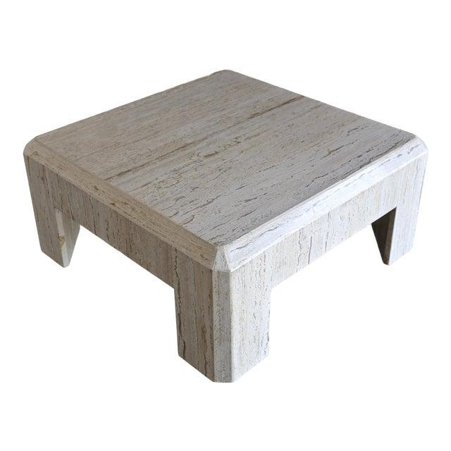 Modernist Travertine Coffee Table Circa 1980 For Sale