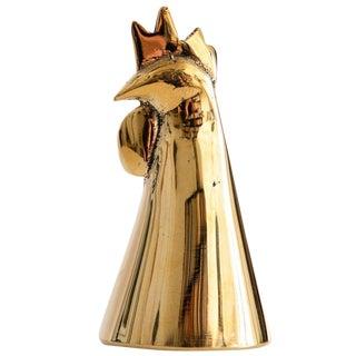 Carl Auböck Model #4072/G 'Rooster' Brass Bell