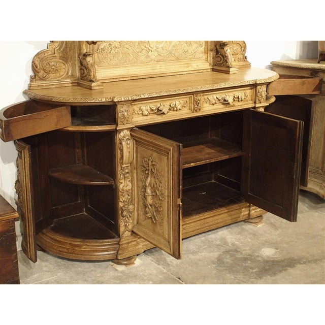 HUNTING BUFFET This magnificent antique French St. Hubert 'Buffet de Chasse' or hunting vaisselier has beautifully hand...