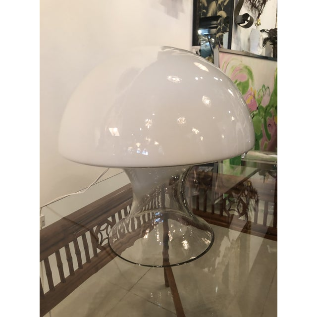 Vintage Murano Vistosi Italian Glass Mushroom Table Lamp For Sale In West Palm - Image 6 of 9