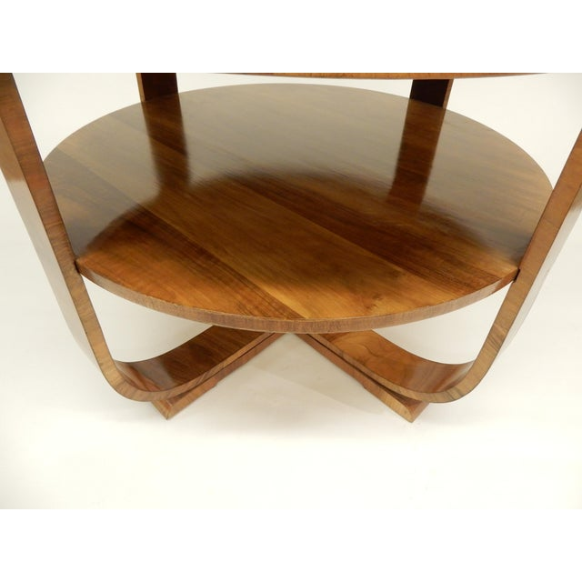 Art Deco Art Deco Round Walnut Side Table For Sale - Image 3 of 10