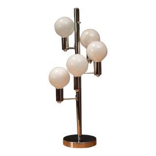 1970s Mid-Century Modern Chrome Globe Lamp For Sale