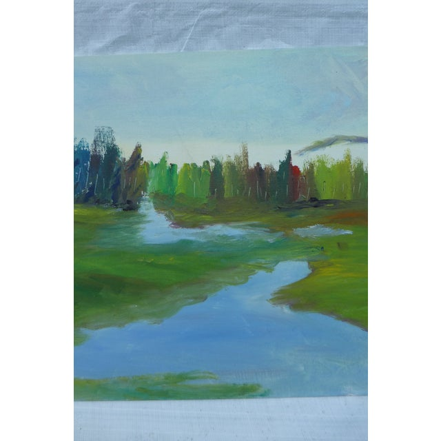H.L. Musgrave Mid-Century River Painting - Image 4 of 6