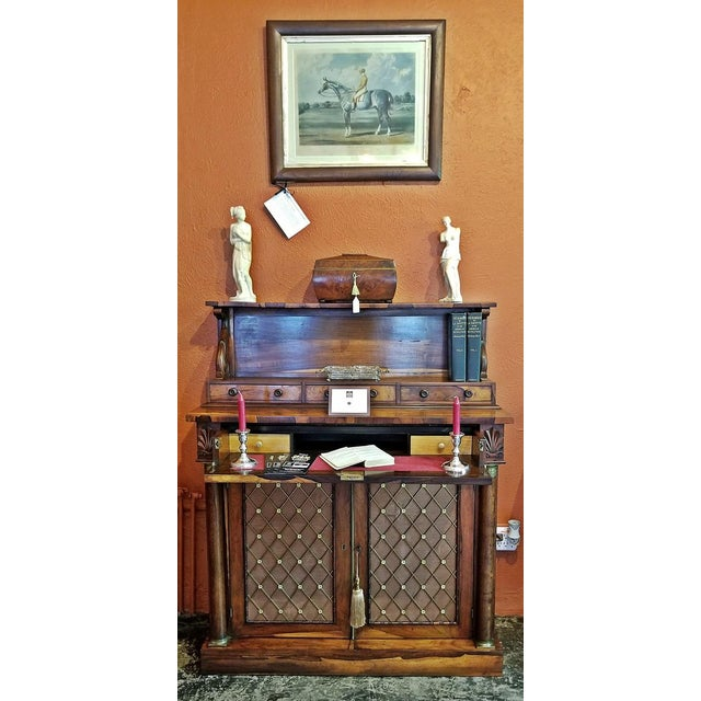 18c British Regency Bureau Secretaire Chiffonier in the Manner of Gillows For Sale - Image 10 of 13