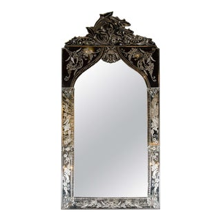 Exquisite Venetian Arabesque Style Mirror with Reverse Etching For Sale