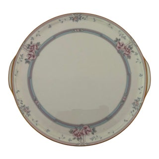 """Elegant Noritake Fine China in Magnificence Pattern Cake Platter With Handle 11.75""""l For Sale"""