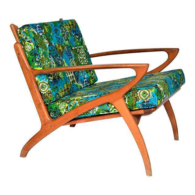 Mid Century Danish Modern Solid Teak Selig Style Lounge Chair --MCM Tropical Coastal Boho Chic Haute Bohemian For Sale - Image 11 of 12