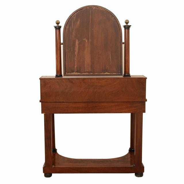French Antique Empire to Biedermeier Transitional Dressing Table C. 1820 For Sale - Image 4 of 7