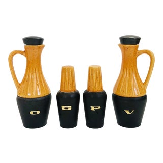 Mid Century Cruet Set For Sale