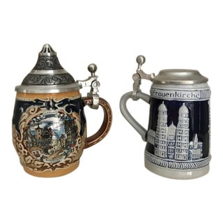 Miniature Beer Steins - A Pair
