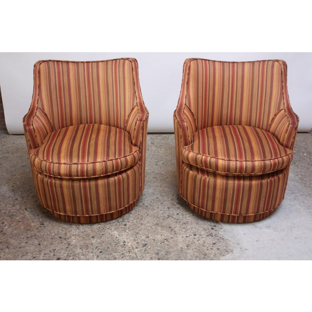 Mid-Century Modern Mid-Century Modern Diminutive Swivel Chairs - a Pair For Sale - Image 3 of 13
