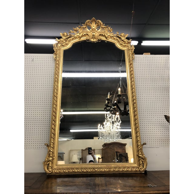 19th Century French Napoleon III Gold Leaf Mirror For Sale - Image 13 of 13