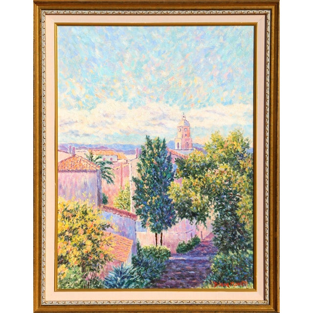 "Diane Monet, ""Late Day in St. Tropez"", Impressionist Oil Painting For Sale"