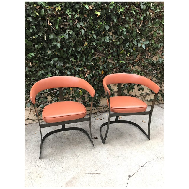 Grapefruit Pink Chairs - A Pair - Image 2 of 10