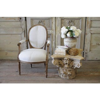 Mid 19th Century Antique Louis XVI Style French Ribbon Chair Preview