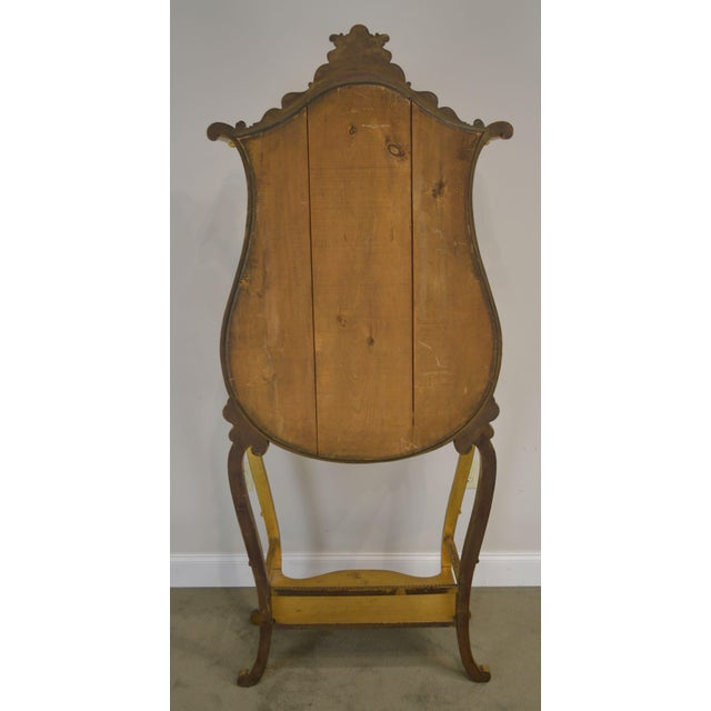 Victorian Era French Louis XV Style Gilt Mirror Back Etagere For Sale - Image 4 of 13
