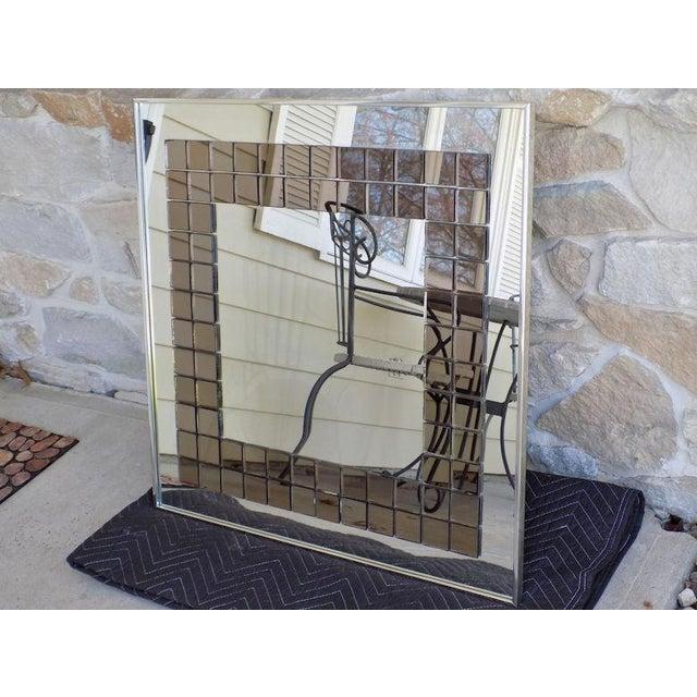 Tiled Hal Bienenfeld Pop Op Art Wall Mirror For Sale - Image 9 of 13