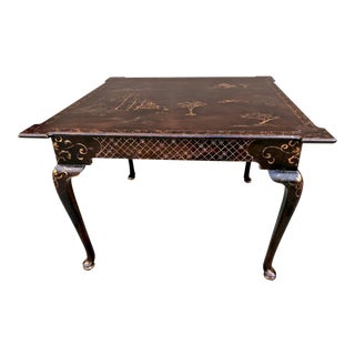 Chinoiserie Center or Games Table For Sale