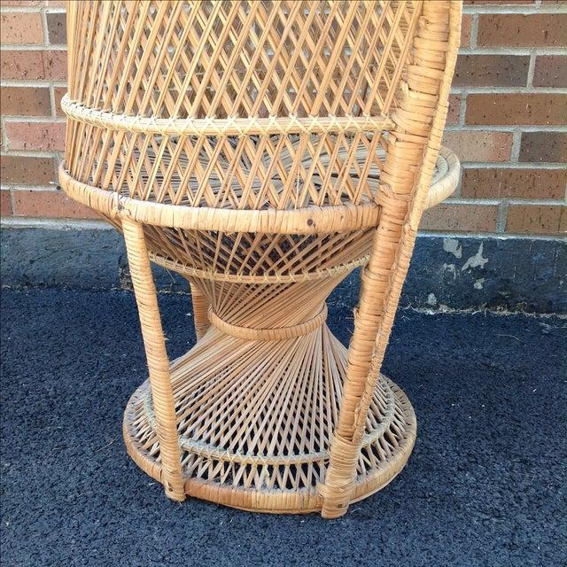 Vintage Rattan Peacock Chair - Image 6 of 9