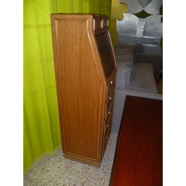 Brass Campaign Style Modern Tall Slender Dresser Valet by American of Martinsville 1960s For Sale - Image 7 of 10