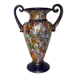 2000 Signed Gambaro and Poggi Millifiori Murano Vase For Sale