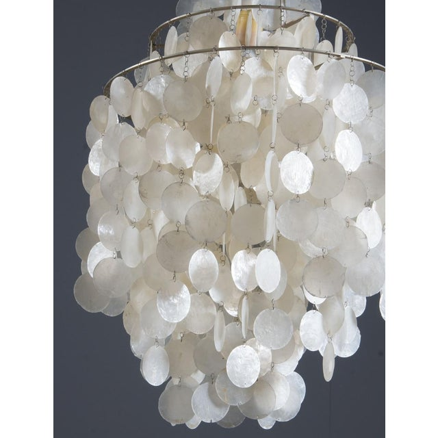 Fun 1 DM Capiz cap chandelier by Verner Panton for Luber For Sale - Image 5 of 8