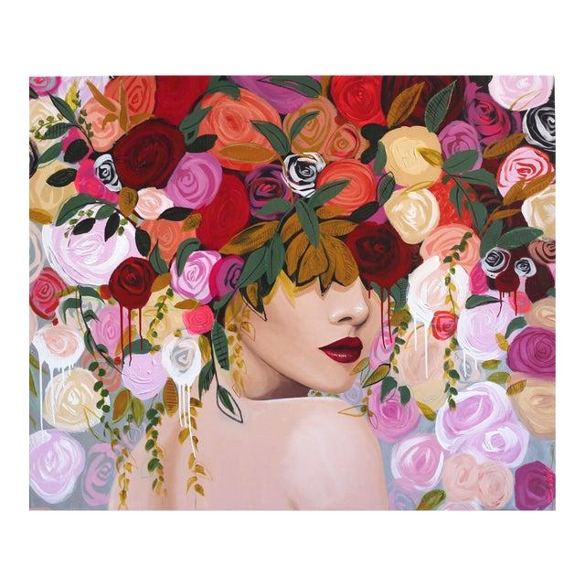 """Untitled"" Original Portrait Acrylic Artwork by Sally K For Sale"