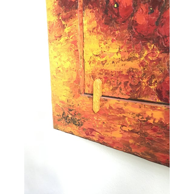 "Huge 6'6"" Tall - ""Beyond the Dream"" Original Oil Painting by Agnes Rathonyi For Sale In New York - Image 6 of 8"