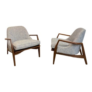 Mid-Century Modern Style Custom Club Chairs - a Pair For Sale