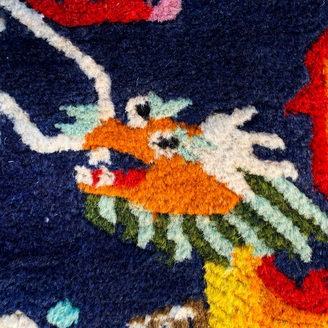 Early 20th Century Vintage Chinese Hand Knotted Rugs - A Pair For Sale - Image 5 of 11