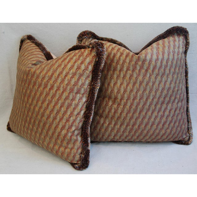 "23"" Custom Tailored Italian Mariano Fortuny Piumette Feather/Down Pillows - Pair For Sale - Image 9 of 11"