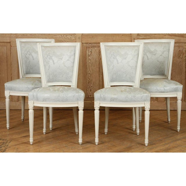 1910s Vintage French Louis XVI Side Chairs - Set of 4 For Sale - Image 12 of 12