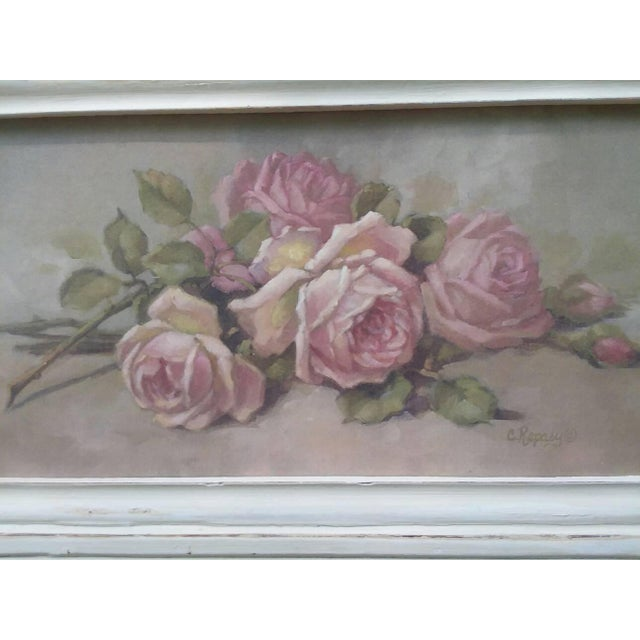 Christie Repasy Shabby Chic Roses Painting - Image 3 of 5