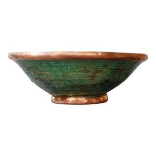 Copper Rim Tamegroute Pottery Bowl