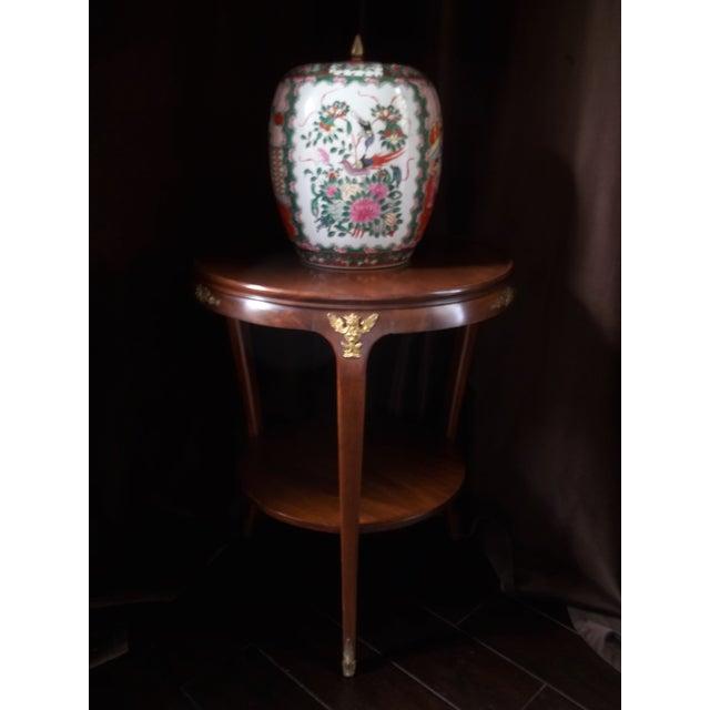 Antique Chinese Rose Mandarin Lidded Porcelain Ginger Jar For Sale - Image 11 of 11