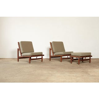 1950s Vintage Ilmari Tapiovaara Chairs and Ottoman- 3 Pieces Preview