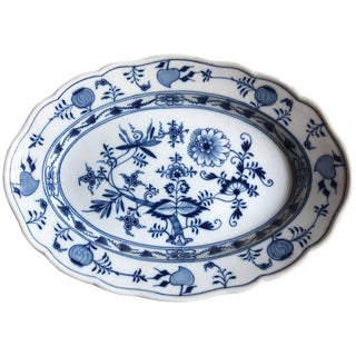 Late 19th Century Meissen Porcelain Blue Onion Platter For Sale