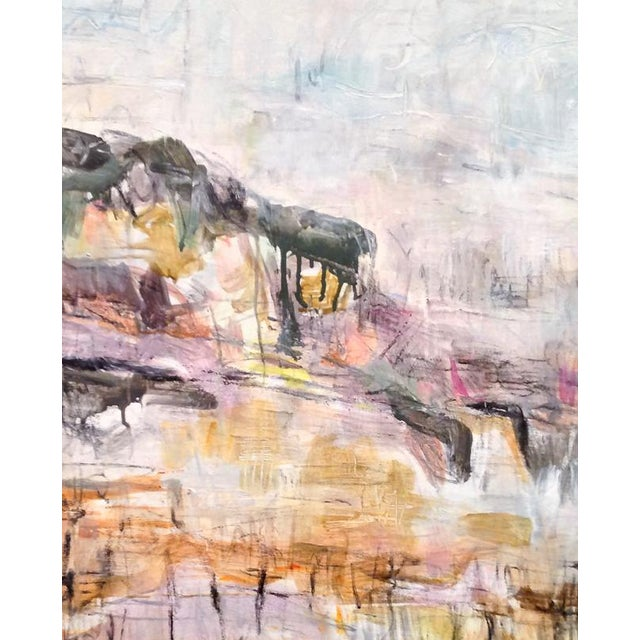 """""""Winter Vineyard"""" is a large abstract landscape painting on canvas by one of Chairish's top selling artists, Trixie Pitts...."""