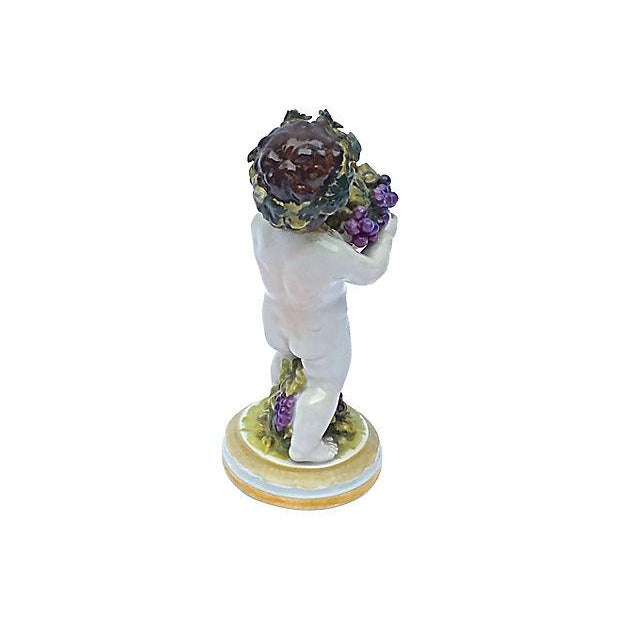 Meissen Antique Porcelain Cherub Figurine For Sale - Image 5 of 6