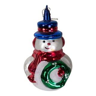 Christopher Radko Snowman Ornament For Sale