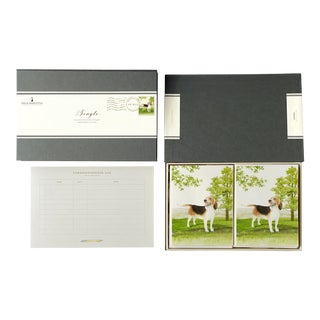 """Beagle"" Boxed Stationery - Folded Cards - Set of 10 For Sale"