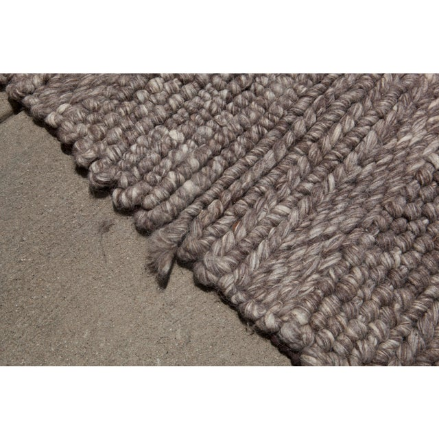 Hand Woven Brown Wool Rug - 9' x 13' - Image 3 of 6