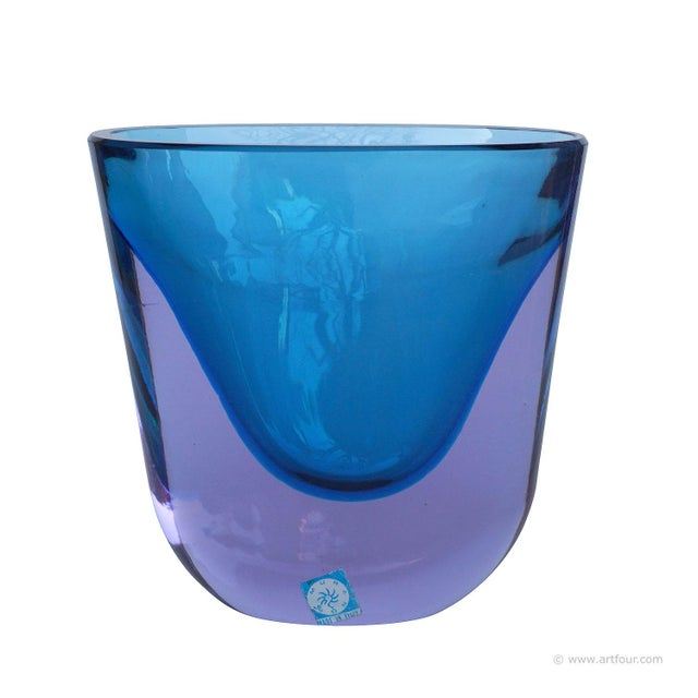 Glass Flavio Poli For Seguso Sommerso Vase Murano Ca. 1960 For Sale - Image 7 of 7