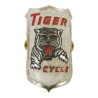 Vintage Tiger Cycle Bicycle Badge Emblem For Sale