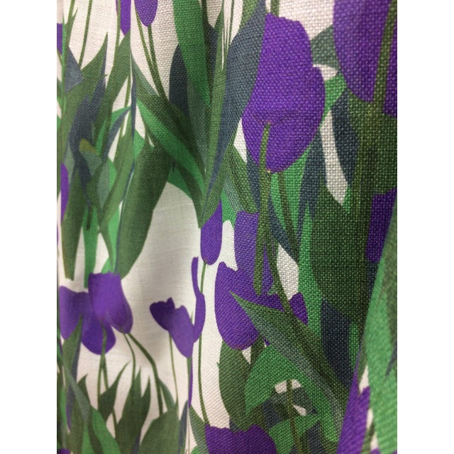 Contemporary In Bloom Fabric in Thistle Purple, 5 Yards For Sale - Image 3 of 7