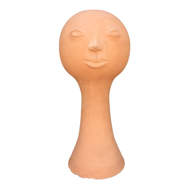 1970s Vintage Paul Bellardo Style Ceramic Face Vase For Sale