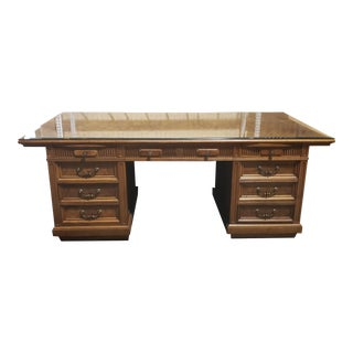 20th Century Traditional Jasper Morrison Walnut Executive Desk For Sale